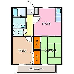 エーレ67[13号室]の間取り