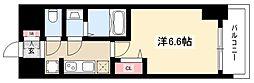 エステムコート名古屋グロース 12階1Kの間取り