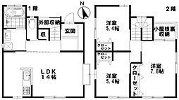 [一戸建] 石川県野々市市住吉町 の賃貸【/】の間取り