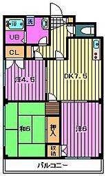 アムーブル・カノウ[302号室]の間取り