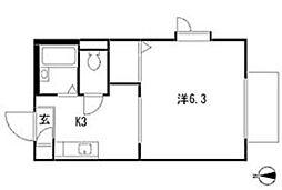 フェアコートI号棟[2階]の間取り