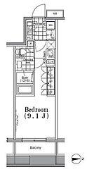 東京都台東区寿1丁目の賃貸マンションの間取り