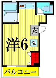 千葉県船橋市三山3丁目の賃貸マンションの間取り