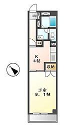ネオ青山[4階]の間取り
