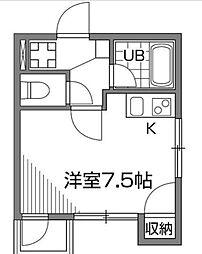 東京都世田谷区千歳台1丁目の賃貸マンションの間取り