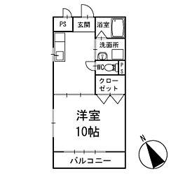 ハイムエクセル 2階[202号室]の間取り