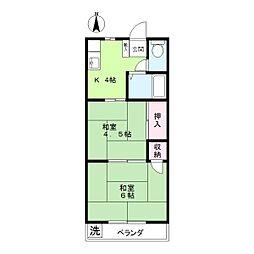 束田マンション[3階]の間取り