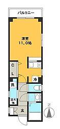 山崎マンション[101号室]の間取り
