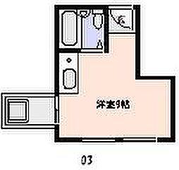 クリフサイド西岡本[3階]の間取り