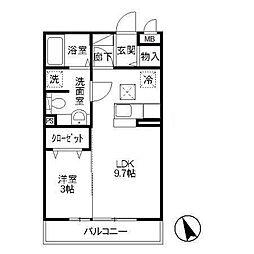 茨城県かすみがうら市下稲吉の賃貸アパートの間取り