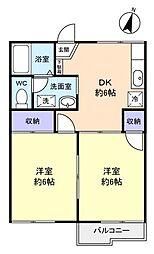 フロールN[2階]の間取り