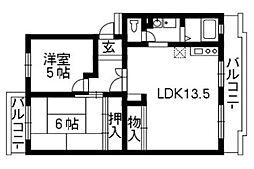 アムールONE[4階]の間取り