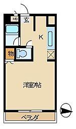 西部観光ビル[303号室]の間取り