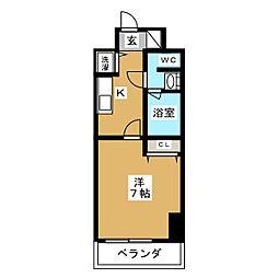 京都府京都市中京区河原町通二条上る清水町の賃貸マンションの間取り