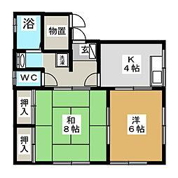 メゾンすみれ[1階]の間取り