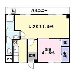 米田第一ビル[4階]の間取り
