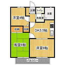 京都府京都市伏見区醍醐和泉町の賃貸アパートの間取り