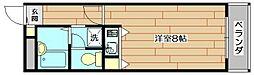 大阪府茨木市総持寺駅前町の賃貸マンションの間取り