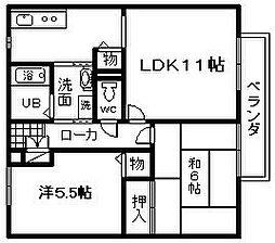 マノワールYAMAMOTO C棟[101号室]の間取り