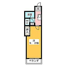 アネックス高蔵寺[1階]の間取り