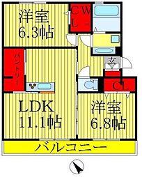 (仮)D-room河原塚[1階]の間取り