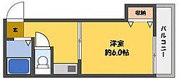 プレアール古川橋[4階]の間取り