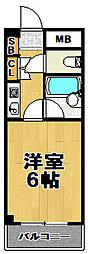 伝法ステーションハイツ[2階]の間取り
