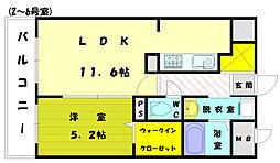 ワイズマンション弐番館[3階]の間取り