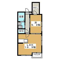ラバンクール銀閣寺[2階]の間取り