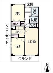 レジダンスY[2階]の間取り