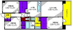 プラウド立川トレサージュ[3階]の間取り