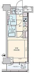 ロアール武蔵新城[1103号室]の間取り