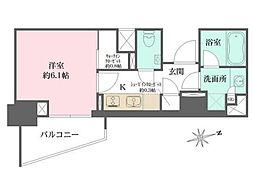 東京メトロ有楽町線 江戸川橋駅 徒歩7分の賃貸マンション 2階1Kの間取り
