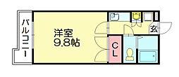 メモリアル空港東[3階]の間取り
