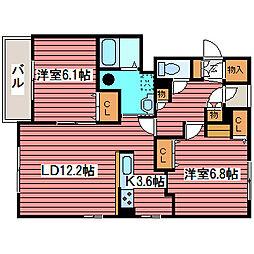 北海道札幌市豊平区福住一条3丁目の賃貸マンションの間取り