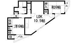 兵庫県伊丹市西野2丁目の賃貸マンションの間取り