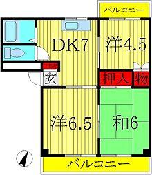 ロイヤルセピアI・II[2階]の間取り