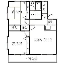 ビックストーンA・B[2階]の間取り