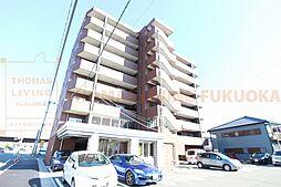 福岡県古賀市中央6丁目の賃貸マンションの外観