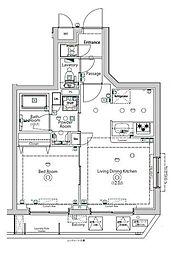 京急空港線 大鳥居駅 徒歩7分の賃貸マンション 2階1LDKの間取り