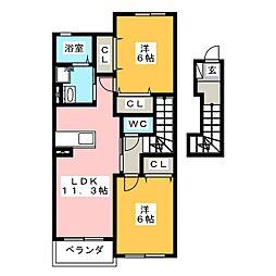 サンローズ II棟[2階]の間取り