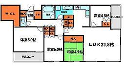 Osaka Metro谷町線 大日駅 徒歩4分の賃貸マンション 12階4LDKの間取り