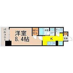 愛知県名古屋市北区黒川本通3丁目の賃貸マンションの間取り