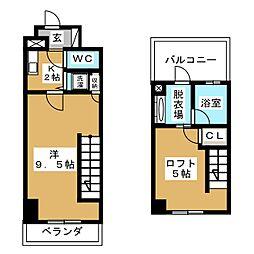 アーデン春岡[5階]の間取り