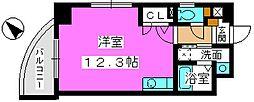 福岡県福岡市中央区白金1の賃貸マンションの間取り