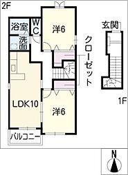 サン・ホーム誠和I[2階]の間取り