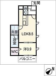 仮)幸心2丁目新築アパートA棟[1階]の間取り