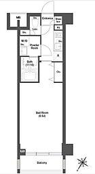 JR山手線 目黒駅 徒歩6分の賃貸マンション 4階1Kの間取り