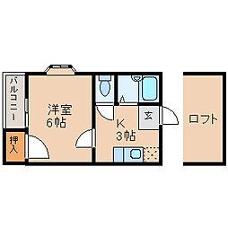 グランカーサ吉塚[1階]の間取り