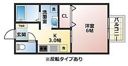 シティバルハイツ[1階]の間取り